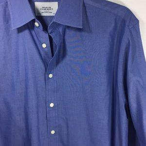 Charles Tyrwhitt Blue Dress Shirt Mens 16.5/34